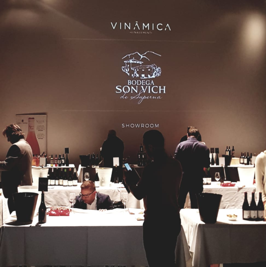"The cellar ""Son Vich de Superna"" present in the Vinamica Showroom."
